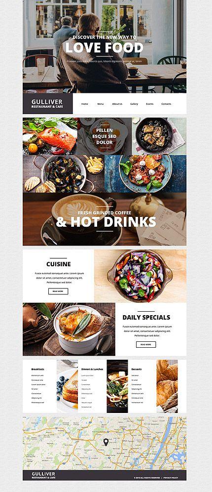Foodie's Restaurant Site #Wordpress #template. #themes #business #responsive #Wordpressthemes