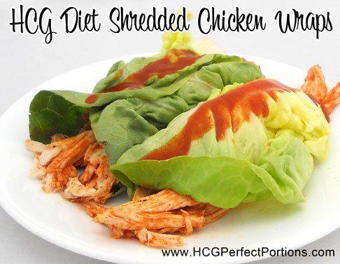 HCG P2 Shredded Chicken Wraps - HCG Slimming