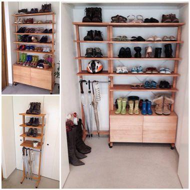 棚のDIYレシピ | DIYで作るオシャレインテリア【金曜大工】 移動できる2つの靴棚