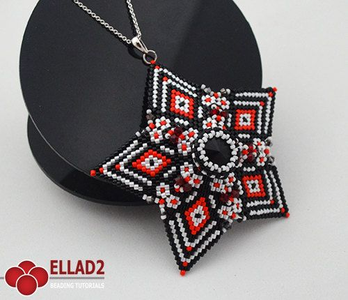 Tutorial Acamar Star Pendant-Beading TutorialBeading by Ellad2