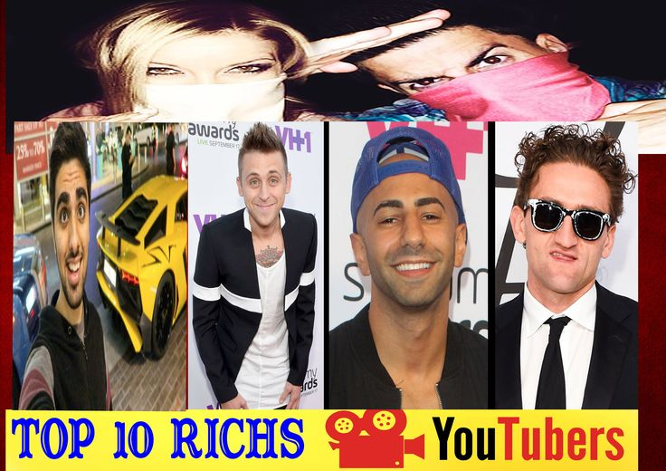Top 10 Richest YouTube Vloggers & How Much Money They Make !! (PewDiePie Roman AtwoodFouseytubeCasey Neistat)   Hi guys  Today We are gone be coundown top 10 Richest youtber  in this video we are loking at who i belive top 10 richest youtuber  And how they earn ther money  some of the cool things purchase of ther money . if you like this video please give this video thumbs up   & lets get start  No 10 tanner Fox  tanner fox is a 16 year old up and coming Youtube star  His vlog Show His viewr…