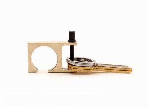 Minimalist 2 Key Ring Bottle Opener — Key Chains -- Better Living Through Design