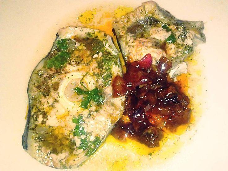 Pesce spada con cipolle caramellate al microonde