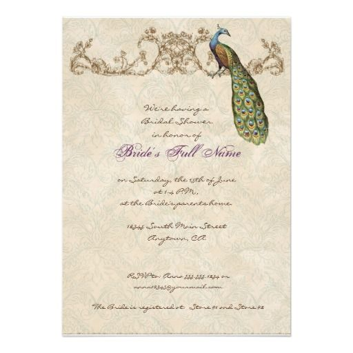 DealsVintage Peacock & Etchings Wedding Invitationyou will get best price offer lowest prices or diccount coupone