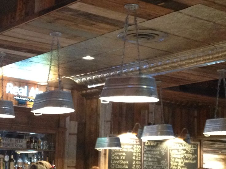 Pendant Lights Out Of Galvanized Water Troughs Cabin