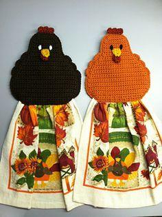 Chicken Towel Topper: FREE crochet pattern