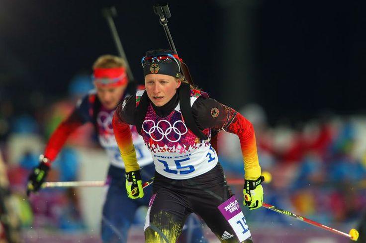DAY 11:  Franziska Hildebrand of Germany competes in the Women's 12.5km Mass Start http://sports.yahoo.com/olympics