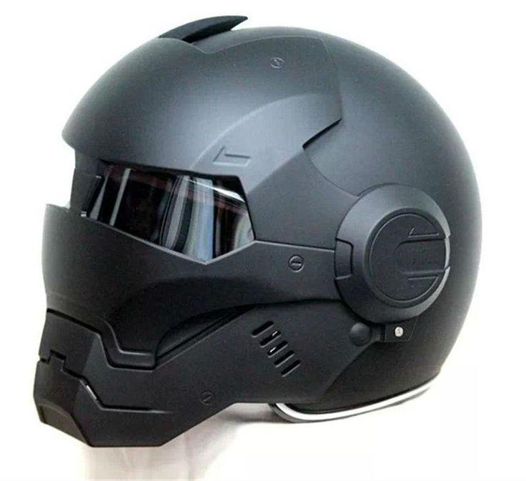 DOT Certified Iron Man Motorcycle Helmet
