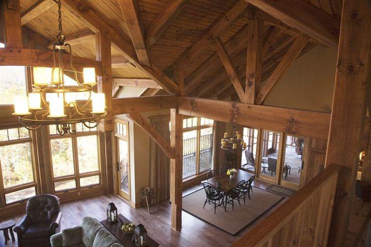 Love This Open Floor Plan Timber Frame Pinterest Open Floor Lofts And Cabin