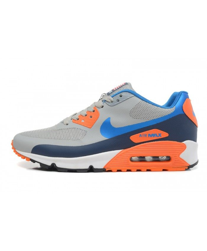 Homme Nike Air Max 90 Hyp Prm Gris Orange Chaussures | Nake