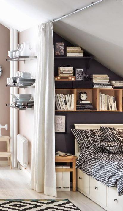 Die besten 25+ Dachschräge gestalten Ideen auf Pinterest - Schlafzimmer Einrichten Kleiner Raum