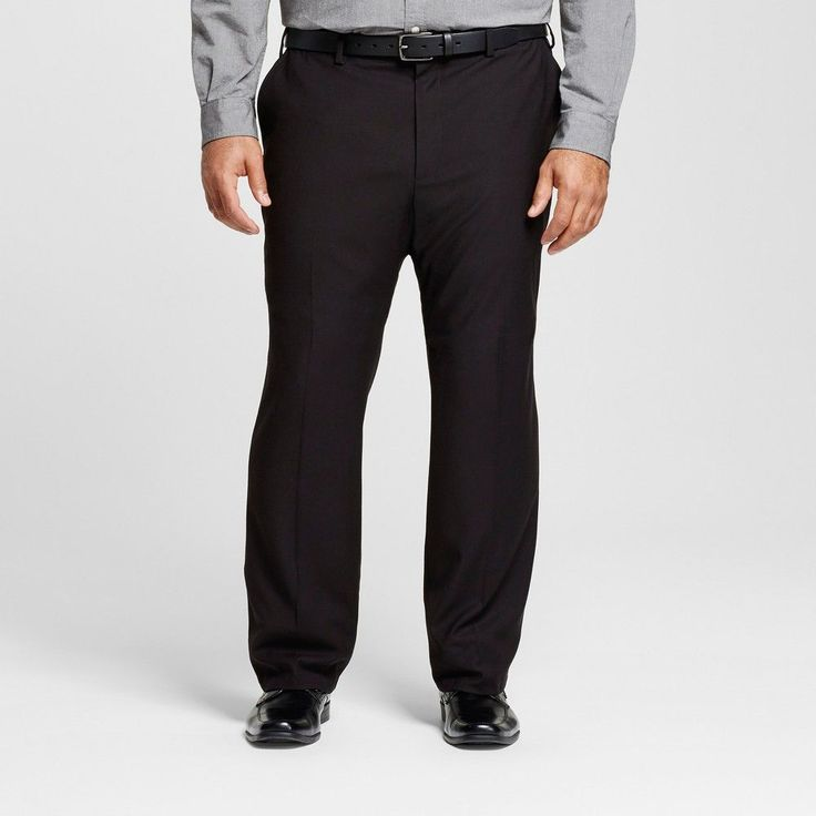 Men's Big & Tall Classic Fit Suit Pants Black 60x30 - Merona