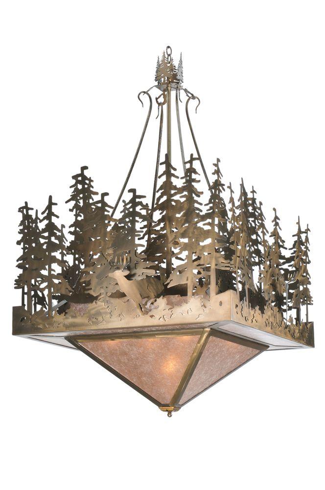 Rustic Lodge Animals Ceiling Fixture