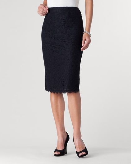 Lace pencil skirt...  I've done a dress.  Not maybe time for a skirt?
