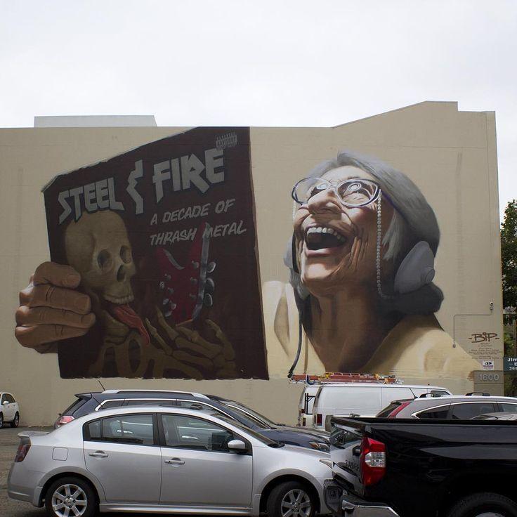 "StreetArtNews   ""Vintage"" by Bip in Oakland, California"