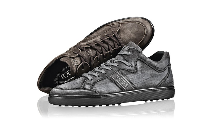 Autumn Winter Collection 2012-13.   Leather Mid-Top Sneakers