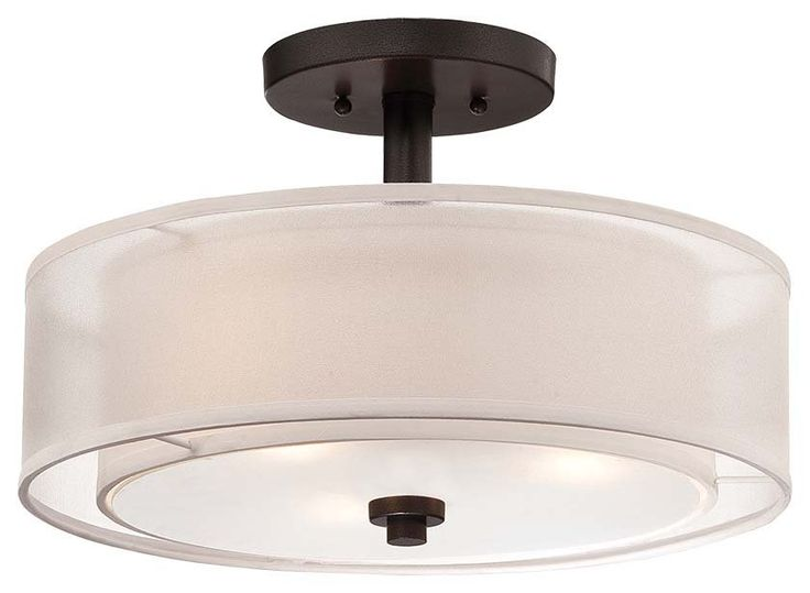 View the Minka Lavery 4107-172 3 Light Semi-Flush Ceiling Fixture from the Parsons Studio Collection at Build.com.