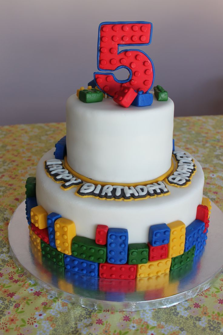 What A Cute Idea For A Building Blocks Themed Birthday Cake