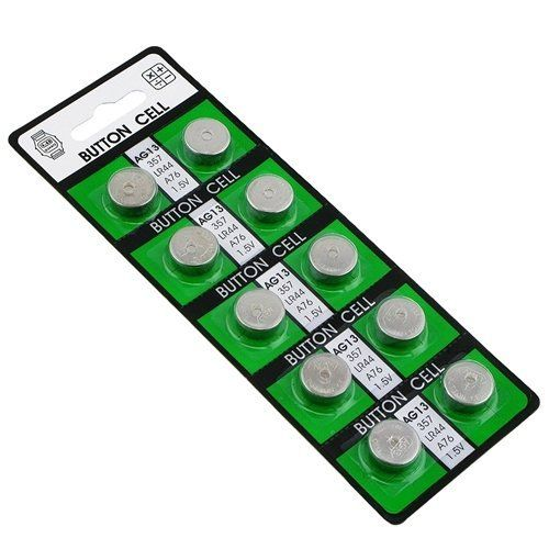 AG13 Alkaline Coin Cell Button Battery by eForCity. $0.20. Also known as D303, D357, 303, 357, LR1154 & LR44. This AG13 batteries deliver dependable, powerful performance that keeps going and going. Provides long life for the devices you use every day-from toys to flashlights. Model: AG13. Quantity: One pack of 10 batteries. Voltage: 1.5V. You never quit. Your battery shouldn't either. Usage: calculator, cameras, computer, PDA, remote control, MP3 player, watch, clock, games, toy...