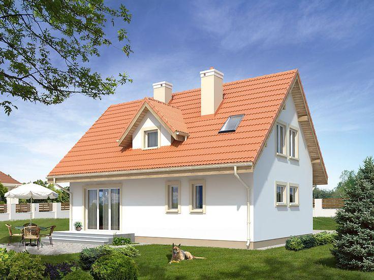 Bielik dr-T (106,60 m2) to tradycyjny dom z użytkowym poddaszem zaprojektowany w szkielecie drewnianym. Pełna prezentacja projektu na stronie: https://www.domywstylu.pl/projekt-domu-bielik_dr-t.php. #projekty #projekt #domywstylu #domy #dom #house #home #mtmstyl #bielik #architektura #design #projektdomu #architecture #domydrewniane #houseproject