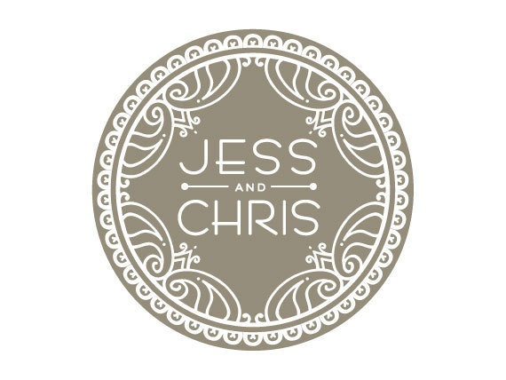 Custom Wedding Logo Design. $150.00, via Etsy.