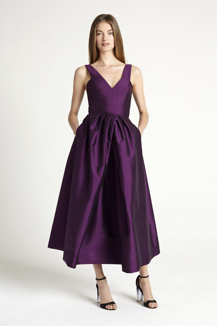 Preppy and vivid, bridesmaid gown by Monique Lhuillier