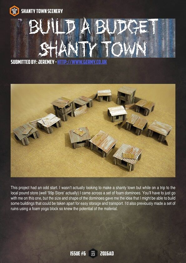 Build a budget shanty town! More wargame terrain in #thegoldend6 Issue Six