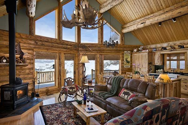 137 Best Rustic Great Rooms Images On Pinterest Rustic Living Rooms Cottage And Fire Places