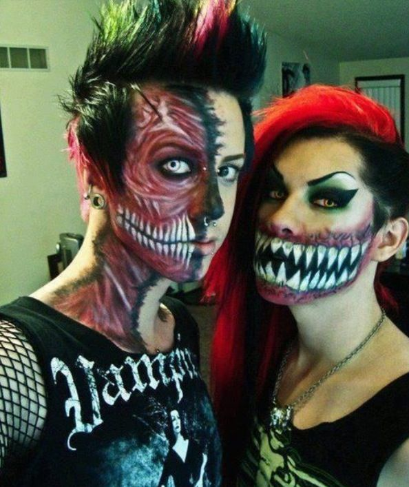 creepy face paint - Halloween Scary Faces