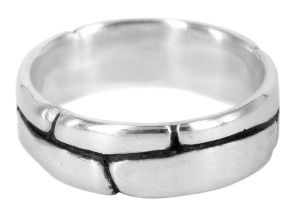 Beethoven wedding ring in sterling silver