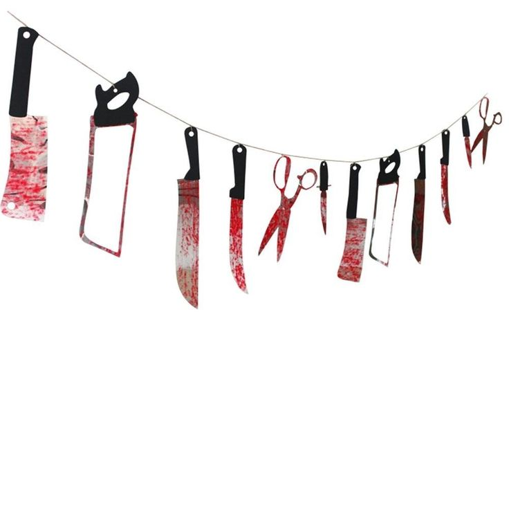 12PCS Bloody Weapons Garland Props for Halloween Decorations 2.4M/7.9ft #bluecookies