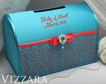 Accessoires de mariage boîte de carte verres serveur par VIZZARA