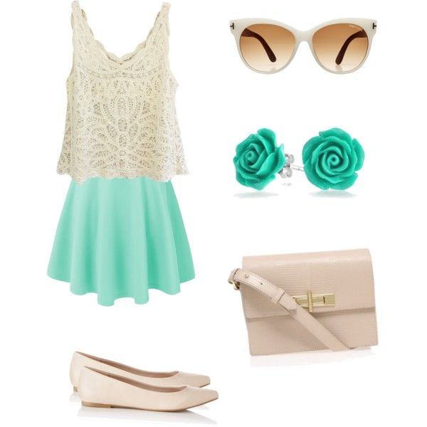 Mint green with envy by kristinaelena on Polyvore featuring polyvore, fashion, style, Express, Kurt Geiger, Bling Jewelry and Tom Ford