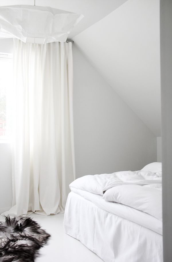 White bedroom via the Style Files.