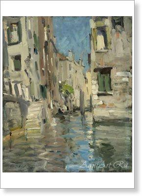 Коровин Константин. Пейзаж. Венеция. Печать на холсте, бумаге