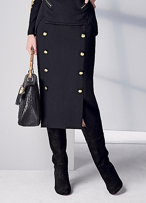 Military Midi Skirt #Kaleidoscope #Workwear