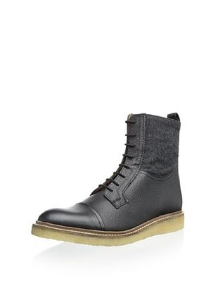 85% OFF Ben Sherman Men's Scott Cap Toe Boot (Black)