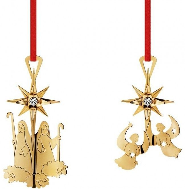 Georg Jensen Golden Christmas Ornaments 2012 - Georg Jensen Golden Christmas 2012 Small Ornaments: Choir of Angels & Sheperds Brass, Plated with 24-carat gold Made in Denmark.Price: $55.00   Link    #Christmas