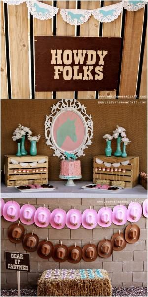 Pink & Aqua Cowgirl Birthday Party! by helena