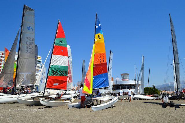 A Sailing Weekend in Torre del Mar - Catamarans at Torre del Mar, Spain
