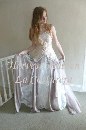 Harvest Maiden Custom Handmade Vintage Lace Bridal Gown £2,085.00