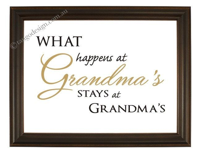 Grandma PRINT- quotes, what happens at grandmas, nana poem, grandmother print - grandma gift by InvitationsbyTango on Etsy