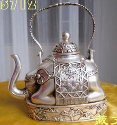 Goedkope Gratis verzending tibetaanse boeddhistische bronzen gecoat zilver olifant vorm figuur theepot 13 cm, koop Kwaliteit metaal ambachten rechtstreeks van Leveranciers van China:   Onthaal aan mijn opslag groot-en detailhandel:http://www.aliexpress.com/store/1736098