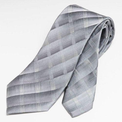 7cm幅 スリム ネクタイ モードタイ シルク100% シルバー #ネクタイ #パーティースタイル #結婚式