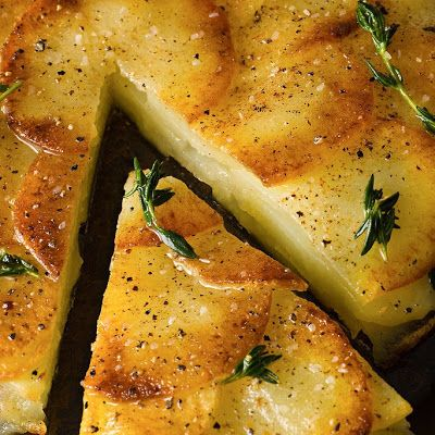 Crisp Potato Cake (Galette de Pomme de Terre) A GREAT WAY TO SERVE DELICIOUS POTATOES. EASY AND IT WILL NOT TAKE ALL DAY TO MAKE THEM. THIS WILL SERVE 4, SO WHY NOT TRY IT TODAY. I KNOW THAT YOU WILL LOVE IT...ENJOY
