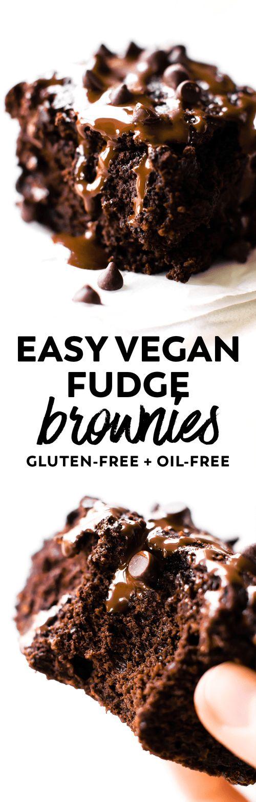Easy Vegan Fudge Brownies (Gluten-Free) | Feasting on Fruit