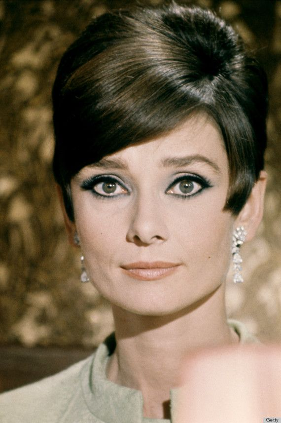 Expertly placed dark eyeliner can soften up a short haircut. Hepburn's face always looked ultra feminine because she knew how to harness the power of great eye makeup. #audreyhepburn