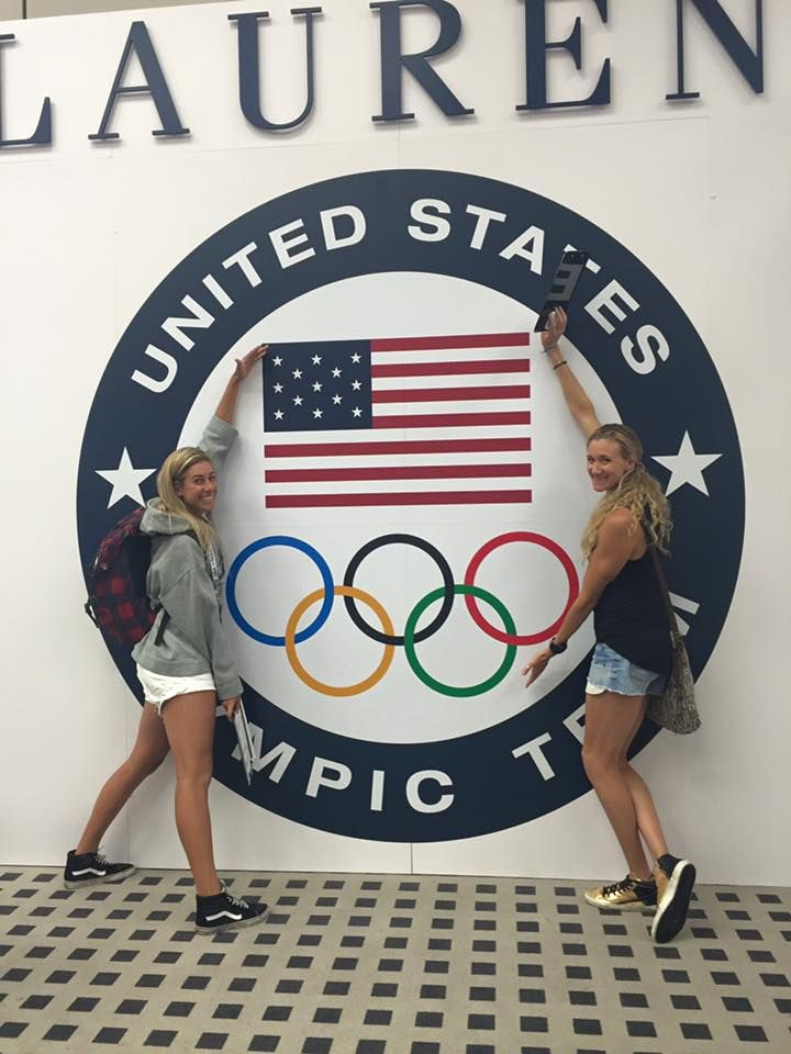 April Ross and Kerri Walsh Jennings at the Olympics in Rio (August 2016)