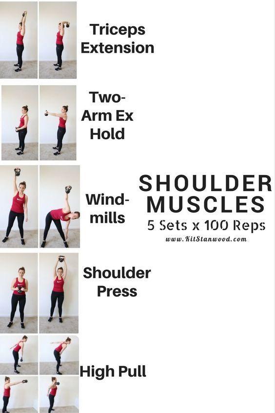 shoulder muscles workout with kettlebell https://www.kettlebellmaniac.com/kettlebell-exercises/