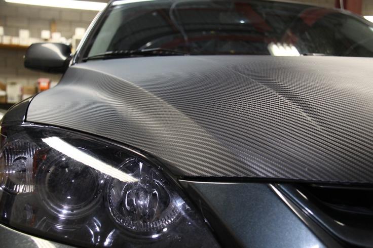 Carbon Fibre Hood Detail カーボン ヒートガン カーラッピング